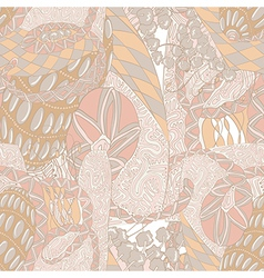 Seamless abstract pattern in light pastel colors vector image