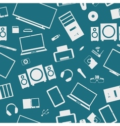 Seamless background from digital devices vector