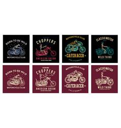 set motorcycles club vector image