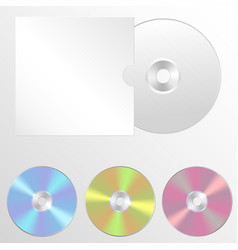 set of isolated blank compact vector image