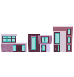 set of modern building vector image
