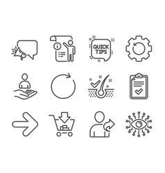 Set technology icons such as artificial vector