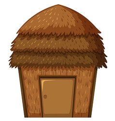 Single hut with roof and door vector image