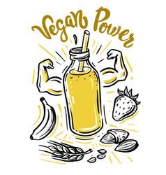 sketch eco juice vector image