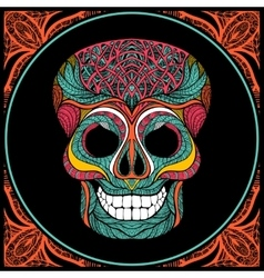 Skull With Colored Pattern vector image