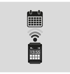 Smart watch planning social media vector