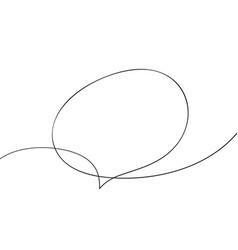 Speech bubble organic shape continuous one line vector