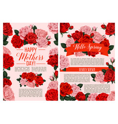 spring flowers for mother day greeting card vector image