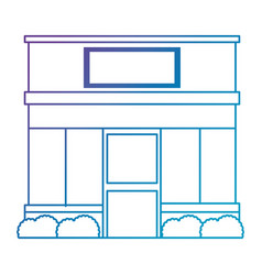 Store building front facade vector
