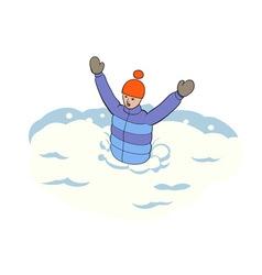 Stuck in snow vector