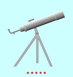 telescope it is icon vector image