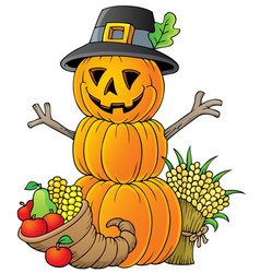 Thanksgiving theme image 1 vector