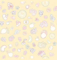 the seamless fruit pattern vector image