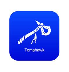 Tomahawk icon blue vector
