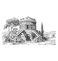 Tomb of theodoric at ravenna vintage vector