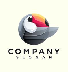 toucan bird logo design vector image