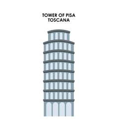 Tower of pisa icon Italy culture design vector