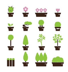 tree pot icon vector image