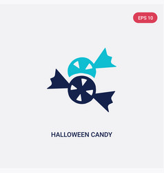 two color halloween candy icon from halloween vector image
