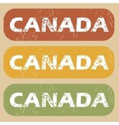Vintage Canada stamp set vector