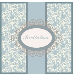 Vintage floral ornament invitation or card vector image