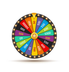 wheel of fortune lottery luck casino vector image