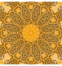 Yoga ornament kaleidoscopic floral mandala vector