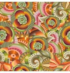 Beautiful decorative floral ornamental pattern vector image vector image