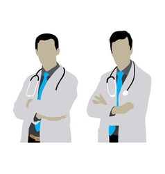 Doctor Man Silhouettes vector image