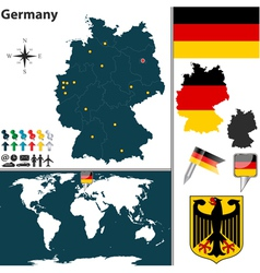 Germany map world vector image
