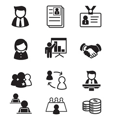 human resource staff management icons set vector image vector image