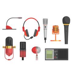microphone set vector image