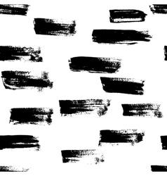 Seamless handmade abstract brush strokes vector image