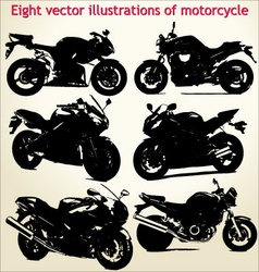 silhouettes motorcycle vector image vector image