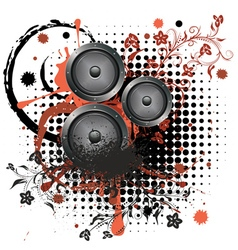 Sound Speaker with Floral2 vector image