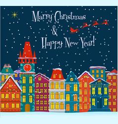 Winter landscape Christmas holydays background vector image