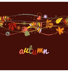 Autumn background seamless pattern vector image vector image