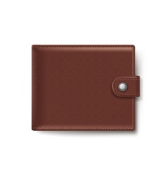 Brown Leather Wallet Isolated on White Background vector image