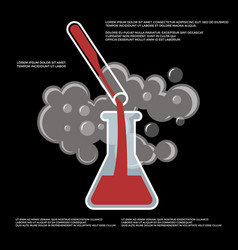chemistry chemical experiment poster vector image vector image
