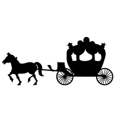 classic carriage vector image