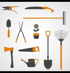 Garden Tools Icons copy vector image vector image