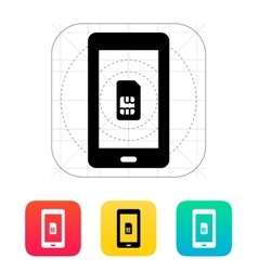 Mobile phone SIM card icon vector image vector image