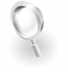 silver metallic magnifying glass vector image