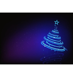 Blue Abstract Christmas Tree vector image