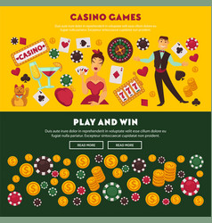 casino games play and win promotional internet vector image vector image