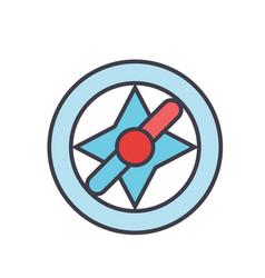 compass navigation concept line icon vector image