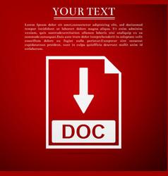 doc file document icon download doc button icon vector image