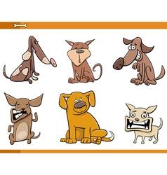 Dog cartoon characters set vector