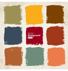 Grunge colorful squares vector image vector image