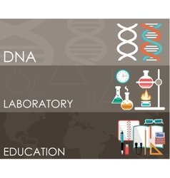 Three science banners Infographics vector image vector image